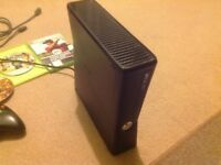 Xbox 360 4gb with extra memory and 5 games