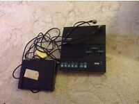 Dictaphone Transcriber Machine with foot pedal and headphones