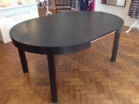 Ikea Bjursta extendable black dinning room table