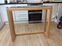 NEXT Brooklyn Oak glass table