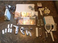 Nintendo Wii bundle and Wii fit board & games