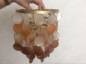 Brown and beige light fitting