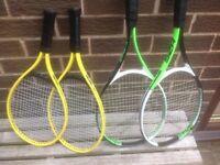 Children's tennis raquets