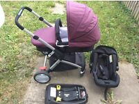 Mothercare Roam Travel system with iso-fix car base