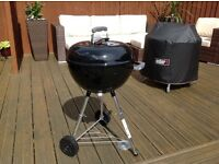 Weber Bar B Kettle 47CM Charcoal Grill With Cover - As New!
