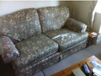 Free to collect. Ex J. Lewis sofa. Loose covers.Wm Morris fabric. Must go by 13th March