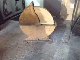 Cast iron stone sharpening wheel