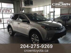 CERTIFIED 2015 TOYOTA RAV4 LIMITED AWD! CLEAN CARPROOF! ONE OWN