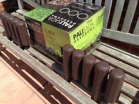 GARDEN EDGING. Dark brown, robust plastic, unused, 4+ metres.