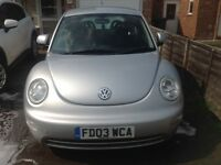 VW Beetle 2003 3 door Silver