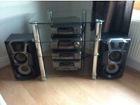 TECHNICS STEREO COMPLETE WITH GLASS UNIT