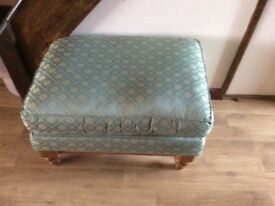 Dunelm chair and footstool