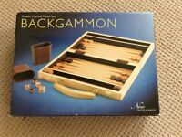 Boxed Backgammon Set in crafted wood