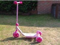 Pink Disney princess scooter