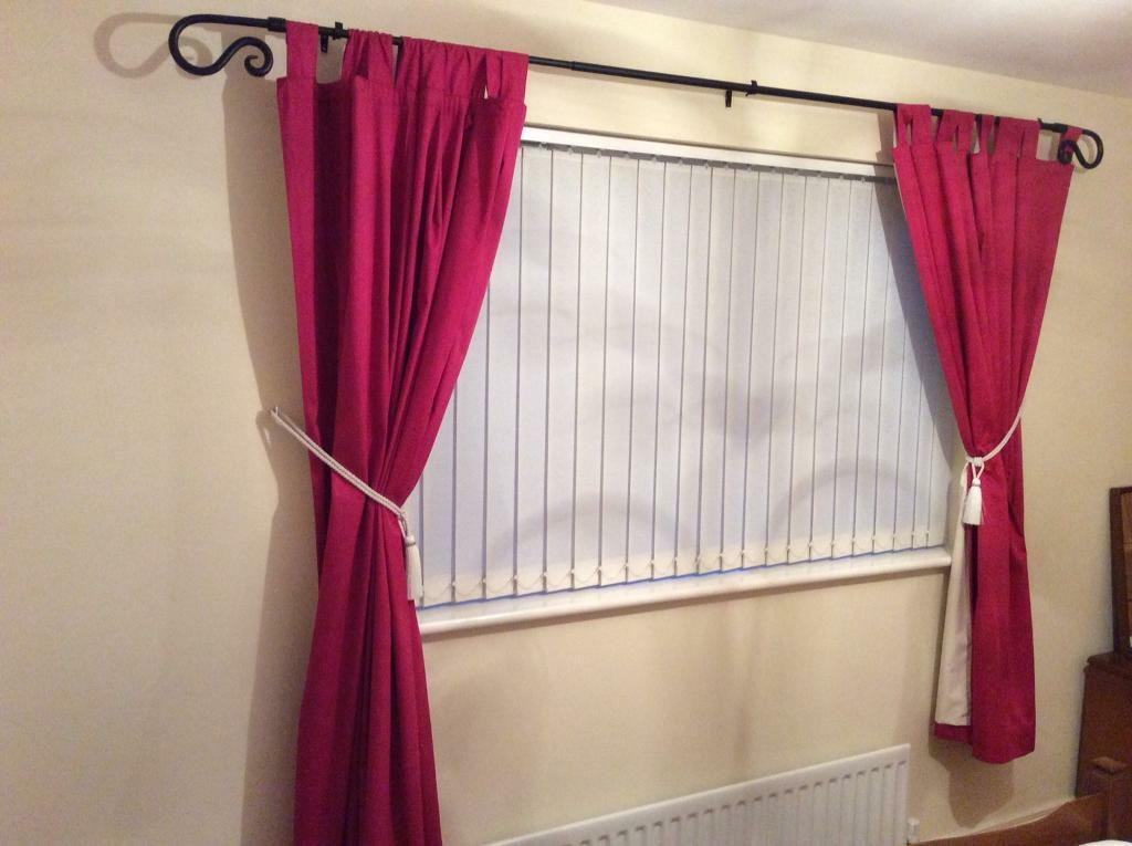Cerise Pink Curtains From Next With Matching Accessories