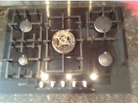 NEFF 5 ring gas hob, 3 years old as new