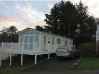 Luxurious static caravan- panoramic views-see the sun setting West Wales