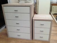 Chest of Drawers and Matching Bedside Drawers