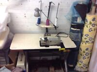 Industrial sewing machine over locker