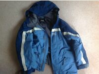 Boy's blue 'Helly Hansen ' hooded jacket for age 10 yrs approx.