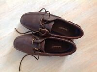 MENS Timberland boat shoes leather size 10