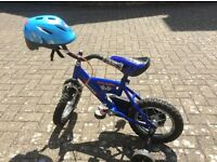 Childs bike and with bike helmet