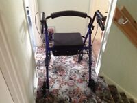 Rollator, light weight with seat