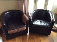 Pair of sofa workshop armchairs