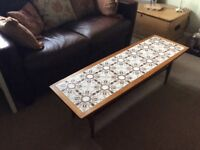 Retro tiled top coffee table