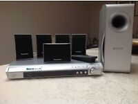 Panasonic DVD Home Theatre System SA-PT150 Sub woofer, 5 speakers and player