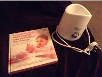 Tommee Tippie baby bottle warmer & Annabel Karmels Baby & Toddler Meal Planner