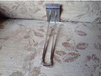 Chrome hooks for slat walls