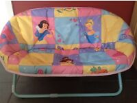 Disney Princess metal Action double Folding moon chair. Brand new