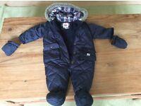 Boys quilted snowsuit by Jaspar Conran. Age 6-9 mth