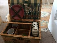 Picnic basket with travel kettle