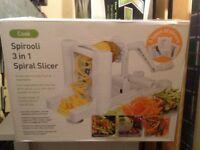 NEW Spirooli 3 in 1 Spiral Creative Vegetable Slicer BNIB