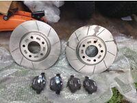M TEC mtec performance brake discs Mazda 3 5 Ford Focus and mintex brake pads