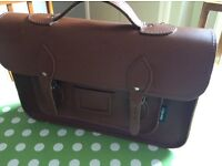 Brown leather satchel by 'zatchels' Looks like new, beautiful, versatile bag