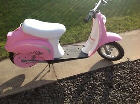 Mini moped pink electric with charger