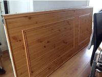 2 pine sliding wardrobe doors