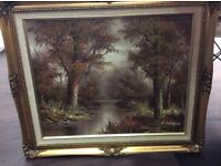 C.Inness large oil painting - nature scene - beautiful!