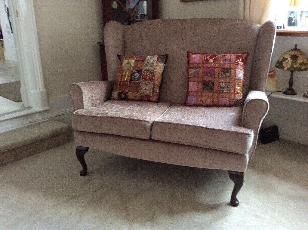As new, two seater sofa mink colour £50
