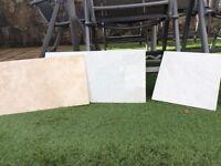 British Ceramic tiles. Three unopened packs containing 8 tiles (300x500mm).