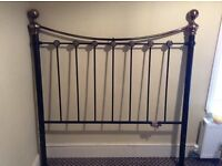 Solid brass and black headboard see pics for condition call for more info 07838198062