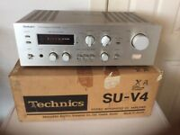 Technics SU-V4 vintage amplifier with original box