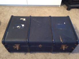 Vintage steamer trunk at a great bargain price for a quick sale.