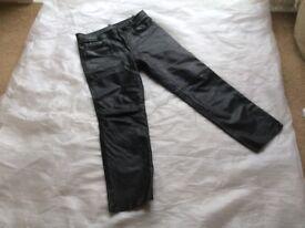 Men's leather 5 pocket jeans