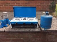 2 ring and grill Camping Gaz Stove and extras