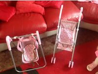 Graco Pram and swing set