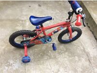 Spider-Man bike 14 inches nearly new 60£